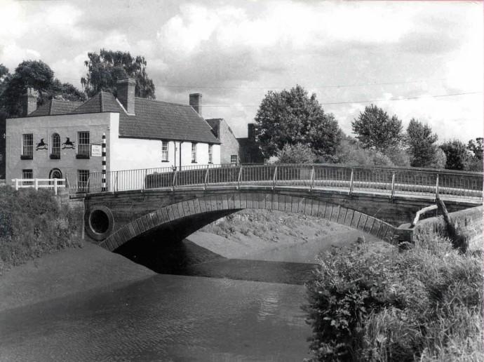 Bridge and River  - Black and White