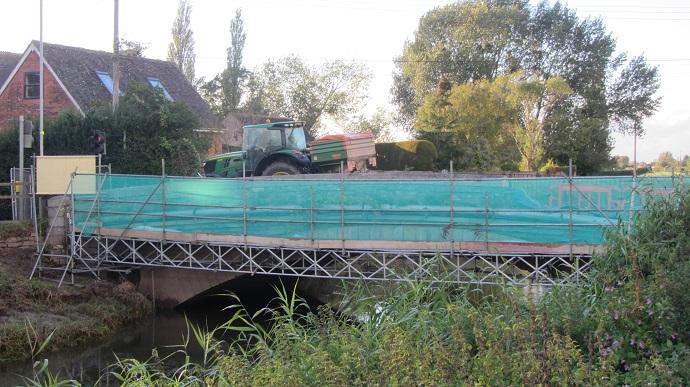 Bridge under repair